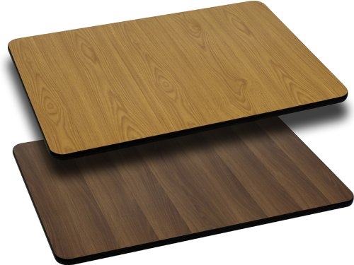 Flash Furniture 30'' x 42'' Rectangular Table Top with Natural or Walnut Reversible Laminate Top [XU-WNT-3042-GG]