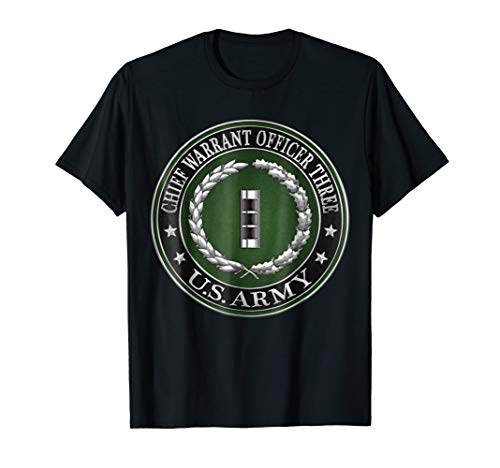 Chief Warrant Officer Three CW3 Rank Insignia Tshirt (Officer Insignia Warrant)