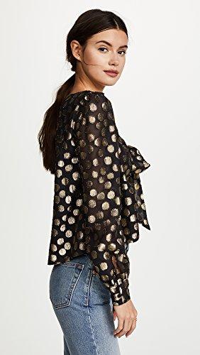 For Love & Lemons Women's Lottie Tie Front Blouse, Gold Dot, Medium by For Love & Lemons (Image #4)