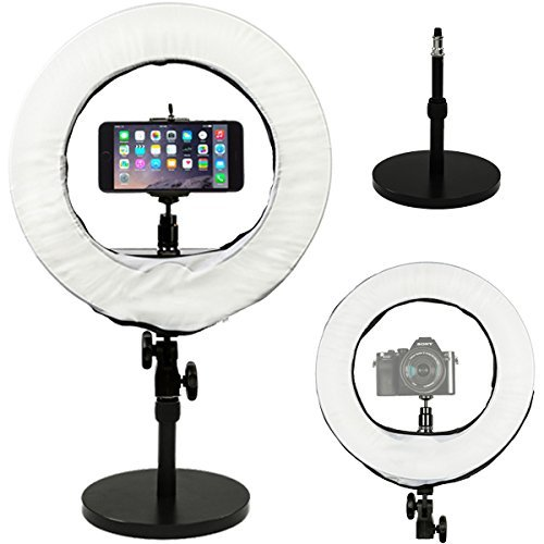"""Prismatic 14"""" Mini Halo Ring Light with Weighted Light Stand"""