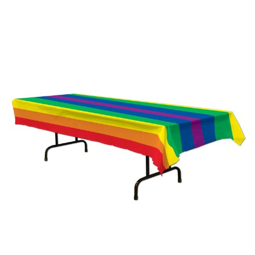 Rainbow Tablecover Party Accessory (1 Count)]()