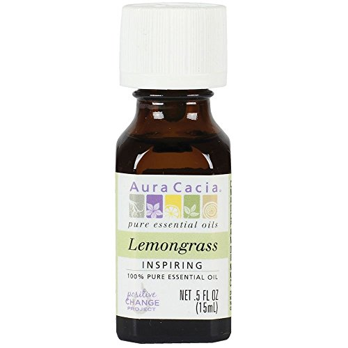 Aura Cacia Essential Oil, Inspiring Lemongrass, 0.5 fluid ounce, Packaging May Vary