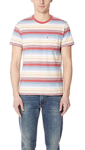 Mens Levis Red Tab (Levis Red Tab Men's Fiesta Stripe Tee, Multi, Medium)