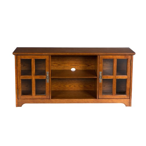 50'' Mission Style TV Media Stand Console , Walnut Finish by FurnitureMaxx (Image #3)