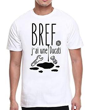 6e1e215639f2d Marvelous Brand T-shirt homme blanc, moto, motard - Bref, j ai une ...
