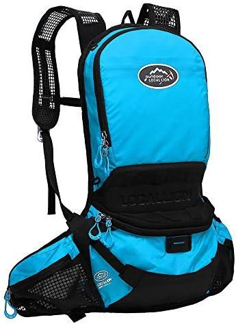 サイクリングバックパック 12l防水軽量ハイドレーションバックパックデイパックウォーターバッグ用ハイキングランニングサイクリングキャンプ-48 * 22センチ (Color : Blue, Size : 48*22cm)