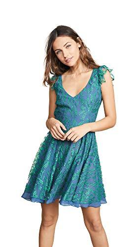Ewa Herzog Women's Layered Lace Dress, Blue/Green, 0