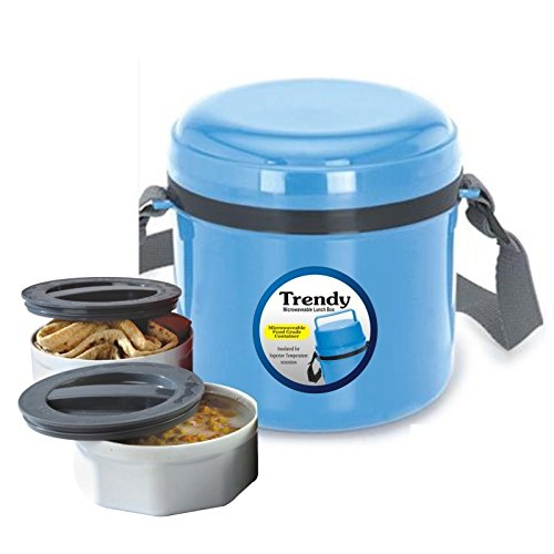 Go Hooked Trendy 2 Containers Lunch Box  Blue
