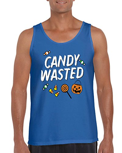 Halloween Candy Wasted Mens Tank Top Pumpkin Scary Costume Spooky Skeleton (Top 20 Halloween Costumes Youtube)