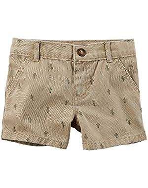 Carter's Baby Boys' Cactus Schiffli Shorts