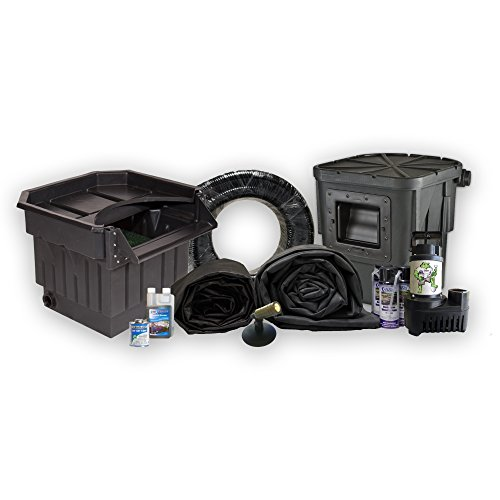 Half Off Ponds' LA2 - 20 ft x 25 ft Large Atlantic Pond Kit w/ 5,500 GPH Pump, Big Bahama 26 Inch Waterfall, & Oasis - 25' Liner Kit