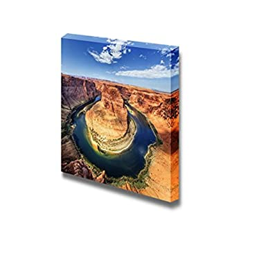 Canvas Prints Wall Art - Beautiful Scenery/Landscape of The Horse Shoe Bend at Utah, USA | Modern Home Deoration/Wall Art Giclee Printing Wrapped Canvas Art Ready to Hang - 24