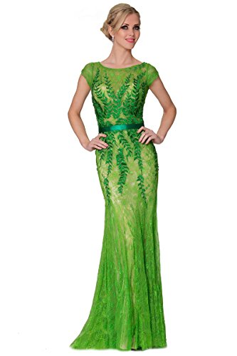 verde Pasto grassgreen SEXYHER de EDYP8016 de vestido cubierto dama Encanto noche Fish Tail Tulle largo wUOU6q