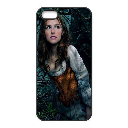 Anna Kendrick As Cinderella coque iPhone 5 5S cellulaire cas coque de téléphone cas téléphone cellulaire noir couvercle EOKXLLNCD21666