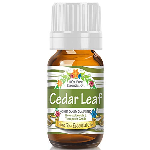 - Cedar Leaf Essential Oil (100% Pure, Natural, UNDILUTED) 10ml - Best Therapeutic Grade - Perfect for Your Aromatherapy Diffuser, Relaxation, More!