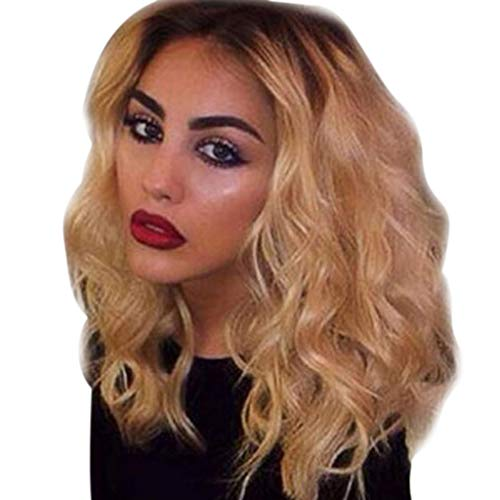 NEW! Ombre Blonde Curly Wig | Inkach Black