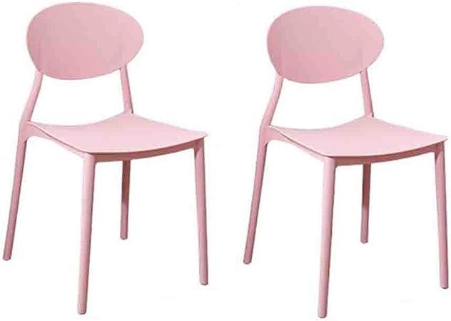 WGXX Silla Plegable Conjunto De 2 Sillas Plástico Al Aire Libre De Interior Jardín Silla De Comedor Moderna (Color : Pink): Amazon.es: Hogar