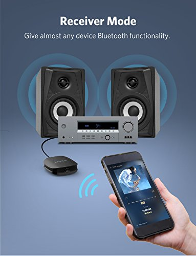 Anker Soundsync A3341 Bluetooth 2-in-1 Transmitter and Receiver, with Bluetooth 5, HD Audio with Lag-Free Synchronization, and AUX/RCA/Optical Connection for TV and Home Stereo System by Anker (Image #2)