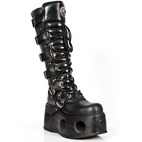S2 New Black M Rock 272 nero Metallic Black Stivali Pelle 07xwq0Tr