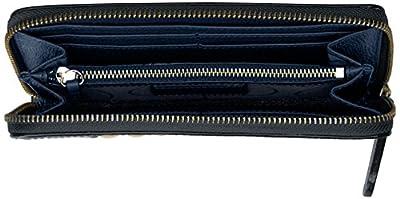 Orla Kiely Laced Stem Leather Zip Wallet Wallet