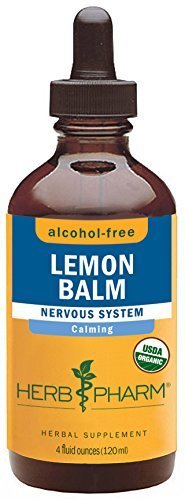 Herb Pharm Alcohol-Free Lemon Balm Glycerite for Calming Nervous System Support - 4 Ounce by Herb Pharm - Pharms Lemon Balm
