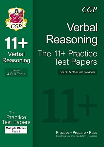 11+ Verbal Reasoning Practice Papers: Multiple Choice - Pack 1 (for GL & Other Test Providers)