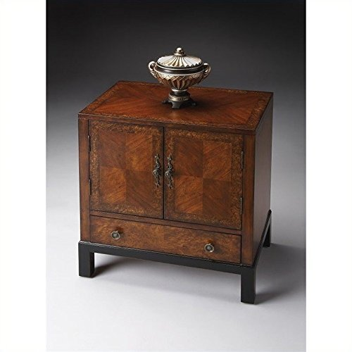 - Butler Specialty Accent Cabinet in Cherry & Burl by Butler