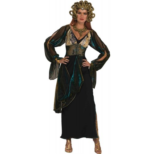 Snake Goddess Costume (Forum Novelties Women's Medusa Greek Goddess Costume, Multicolor, Standard)