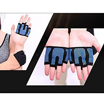 Forfar Half Four Finger Breathable 1 Pair Gloves Gloves Weight Lifting Non Slip Workout Crossfit Training Hand Palm Prot by Forfar