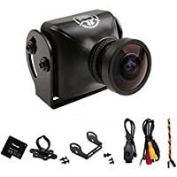 RunCam Swift RR FPV Camera Rotor Riot Special Edition FOV 110 600TVL DC5-17V Wide Voltage IR Blocked CCD NTSC for Racing Drone Quadcopter Black