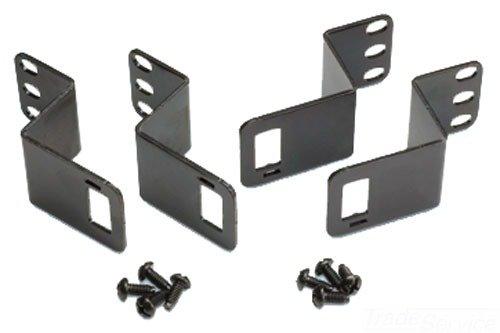 Panduit WMPVCBE Vertical Cable Management Bracket Kit, Black, 4-Piece, Black