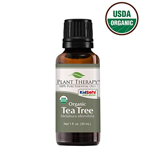 Plant Therapy Tea Tree Organic Essential Oil 100% Pure, USDA Certified Organic, Undiluted, Natural Aromatherapy, Therapeutic Grade 30 mL (1 oz) (Nature Made Hair Skin And Nails Recall)