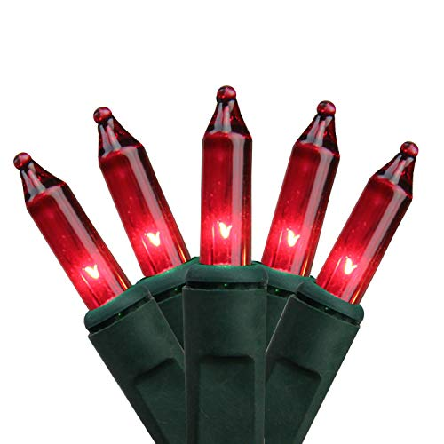 Northlight Set of 100 Red Mini Christmas Lights