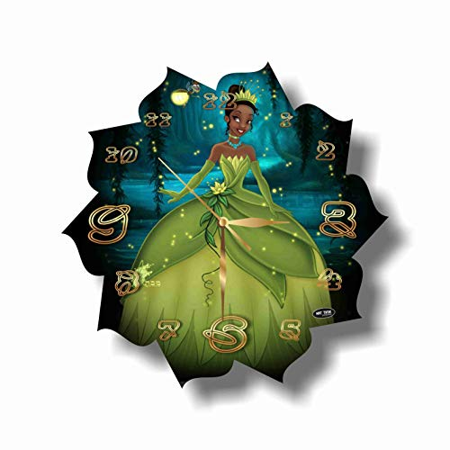 (MAGIC WALL CLOCK FOR DISNEY FANS The Princess and The Frog 11'' Handmade Made of Acrylic Glass - Get Unique décor for Home or Office - Best Gift Ideas for Kids, Friends, Parents and Your Soul Mates)