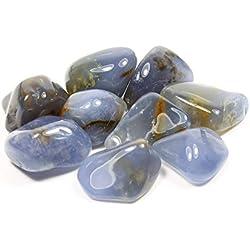 Blue Chalcedony Tumble Stone 20-25mm (5)