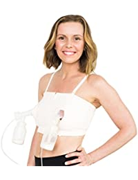 D Lite Hands Free Pumping Bra, Patented, Soft Pink, XS-Large