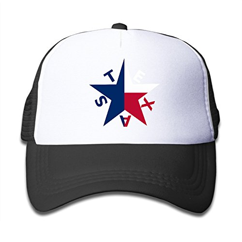 - Adjustable Caps Kids Fashion Star Texas State Flag Baseball Mesh Hats Black