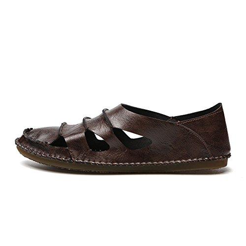 1 Size spiaggia 41 da pescatore Sandali EU Sandali estivi pelle all'aperto 3 Color da Khaki da Sandali Khaki spiaggia da sportivi in scarpe uomo qHwUR6