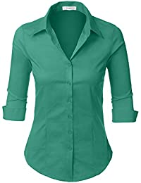 Amazon.com: Greens - Blouses & Button-Down Shirts / Tops & Tees ...
