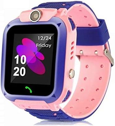 Reloj GPS para niños, inteligente para niños Micoke resistente al agua con cámara, llamadas, ubicación LBS, llamada SOS, ranura para tarjeta SIM, despertador reloj inteligente para niños niñas