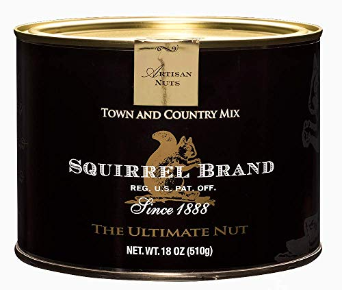 SQUIRREL BRAND Artisan Nuts, Town and Country Mix, 18 oz Gift Tin (Best Trail Mix Brands)