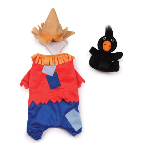 Costume Halloween Crow (Zack & Zoey Polyester Scarecrow Dog Costume, X-Small, 8-Inch,)