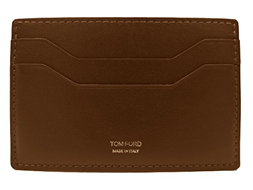 Tom Ford Medium Brown Leather Photo ID Card - Wallets Ford Men Tom For