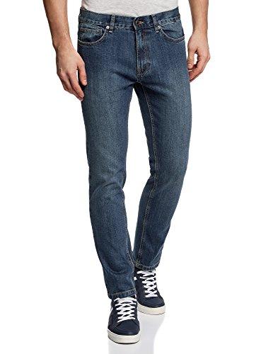 Oodji Ultra Uomo Jeans Basic A Vita Media Blu (7800w)