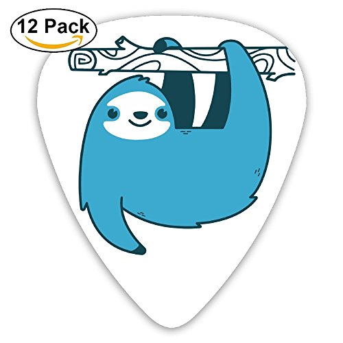 HEHE TAN Guitar Pick ABS The Blue Lovely Sloth Bass Guitar Acoustic Guitar Plectrums 12 Mixed Loading