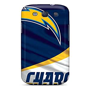 Shock Absorption Cell-phone Hard Covers For Samsung Galaxy S3 With Unique Design Nice San Diego Chargers Series AlainTanielian