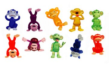 Wholesale Funny Monkey Figures - Tiny Plastic Monkey Figures - 20 Party Favors supplier