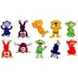 Funny Monkey Figures - Tiny Plastic Monkey Figures - 20 Party Favors