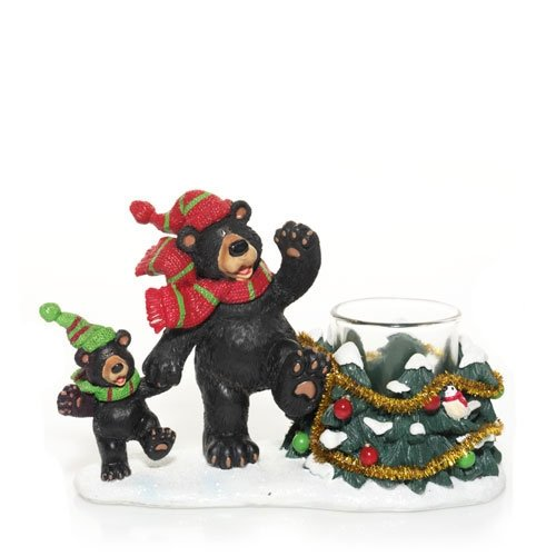 Yankee Candle Co. Christmas Bears - Votive Holder -