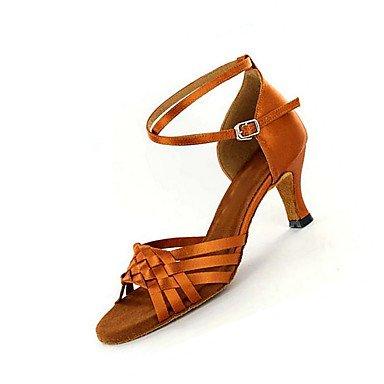 Salsa Zapatos Tacón Swing brown de de Zapatos Marrón Latino Jazz Personalizado baile Personalizables 6CBwqX